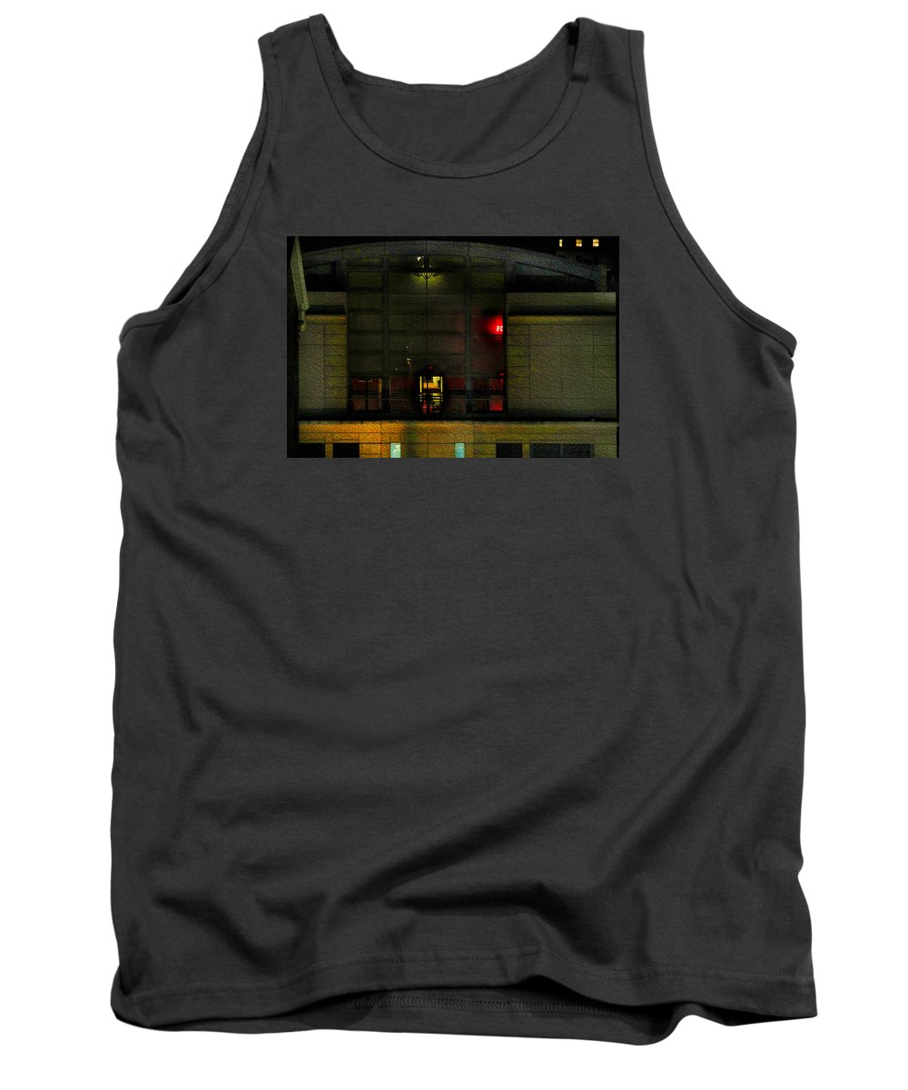 Bonnie Follett Tank Top featuring the photograph Olympic Club At Night by Bonnie Follett