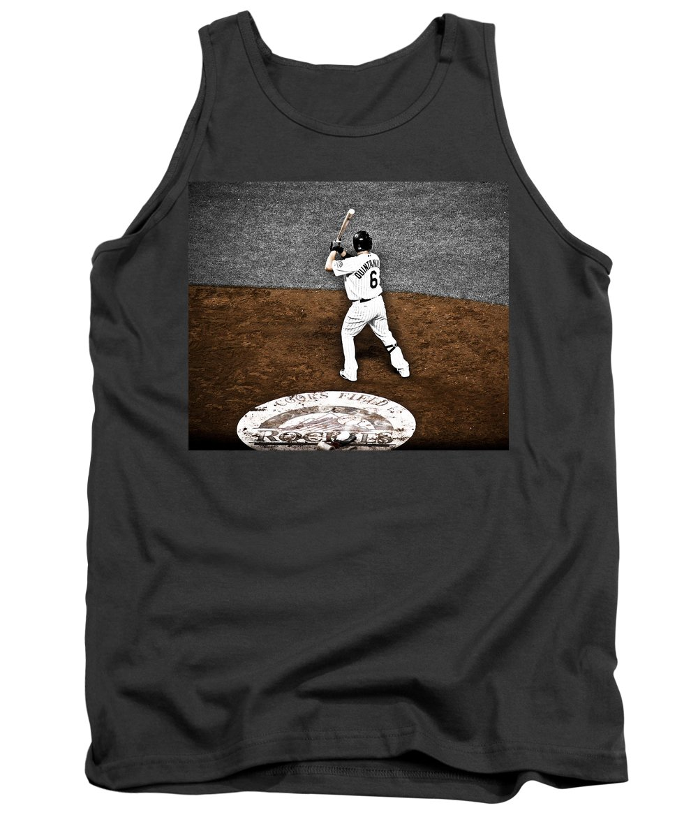 Baseball Tank Top featuring the photograph Omar Quintanilla Pro Baseball Player by Marilyn Hunt