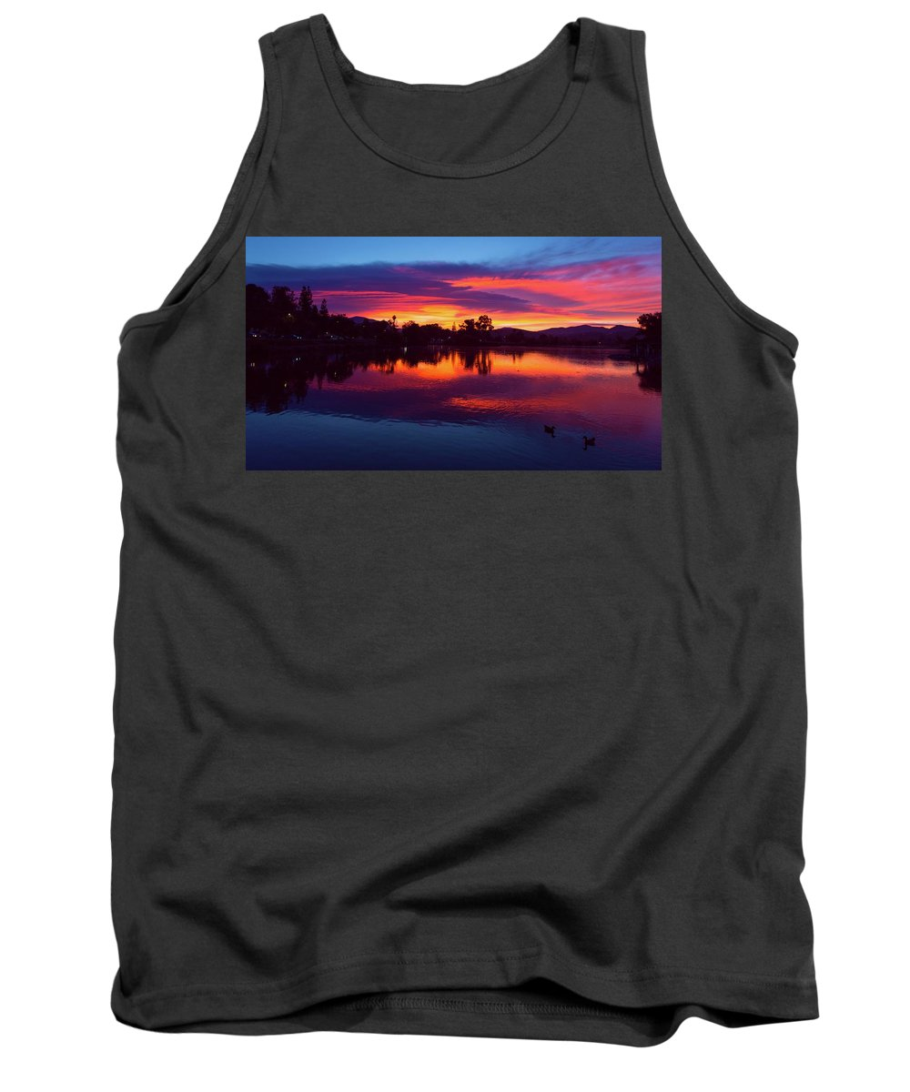 Lindo Tank Top featuring the photograph On Fire by Christopher Payne