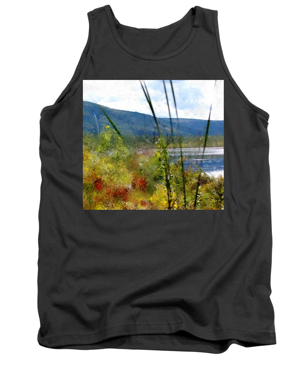 Digital Photograph Tank Top featuring the photograph On The Edge Of Reality by David Lane