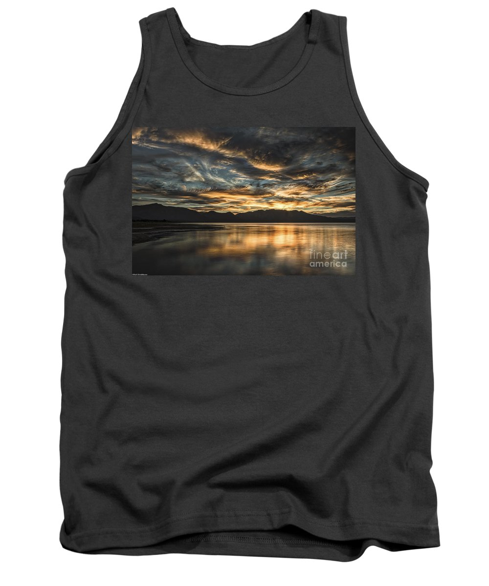 On The Wings Of The Night Tank Top featuring the photograph On The Wings Of The Night by Mitch Shindelbower