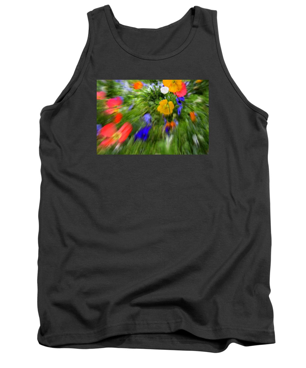Flower Tank Top featuring the photograph One Beautiful White Flower by Fiona Kennard