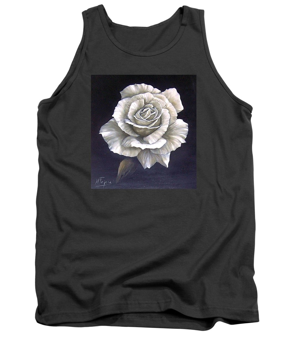 Rose Flower Tank Top featuring the painting Opened Rose by Natalia Tejera