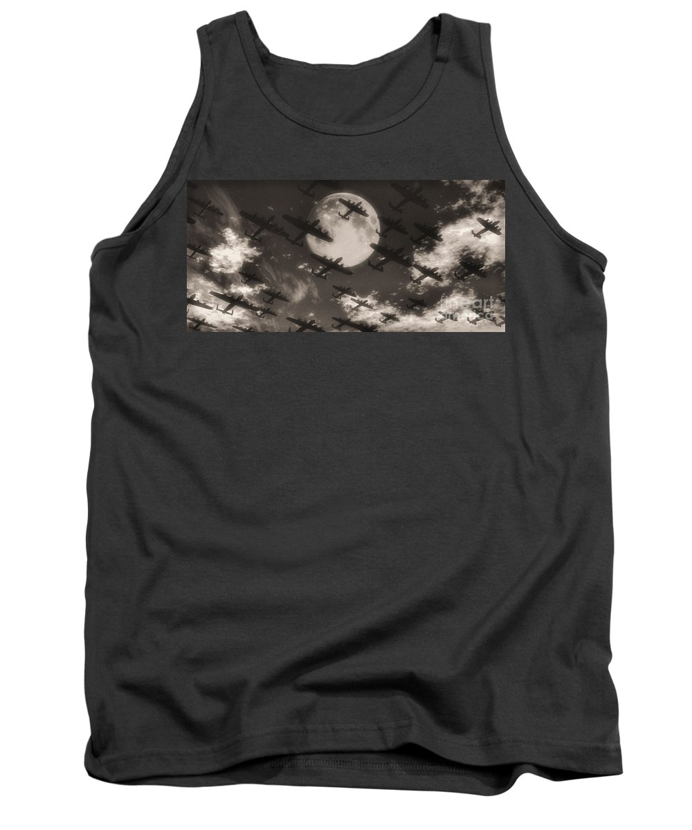 Aviaton Tank Top featuring the digital art Operation Moonlight by Richard Rizzo