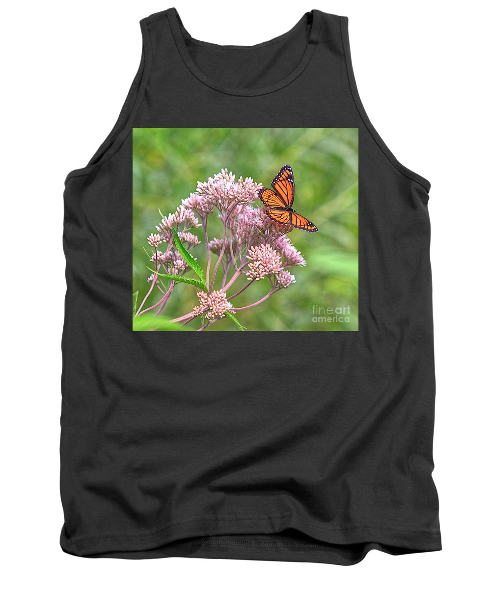 Related Tags: Tank Top featuring the photograph Orange Butterfly by Robert Pearson