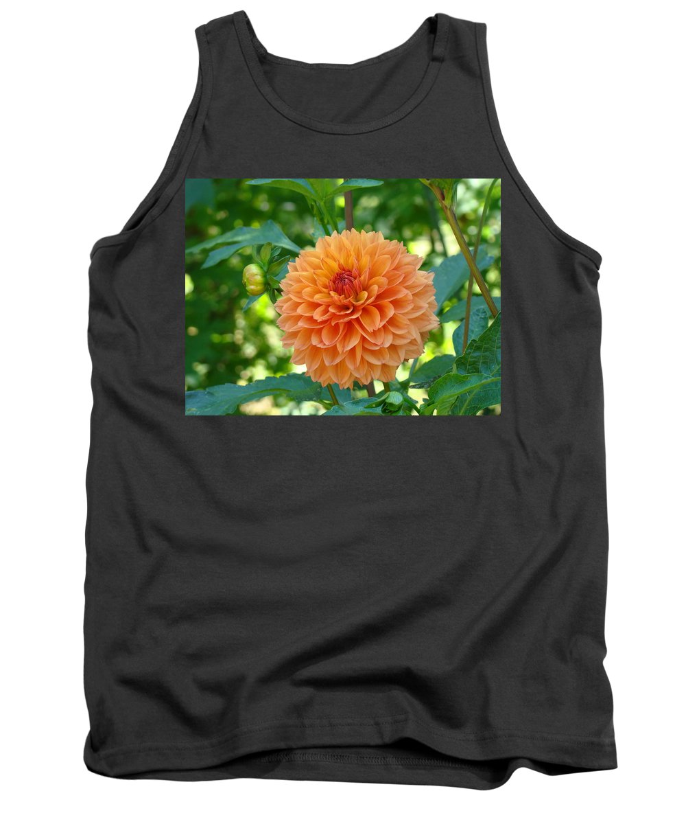 Dahlia Tank Top featuring the photograph Orange Dahlia Master Gardeners Art Collection Baslee Troutman by Baslee Troutman