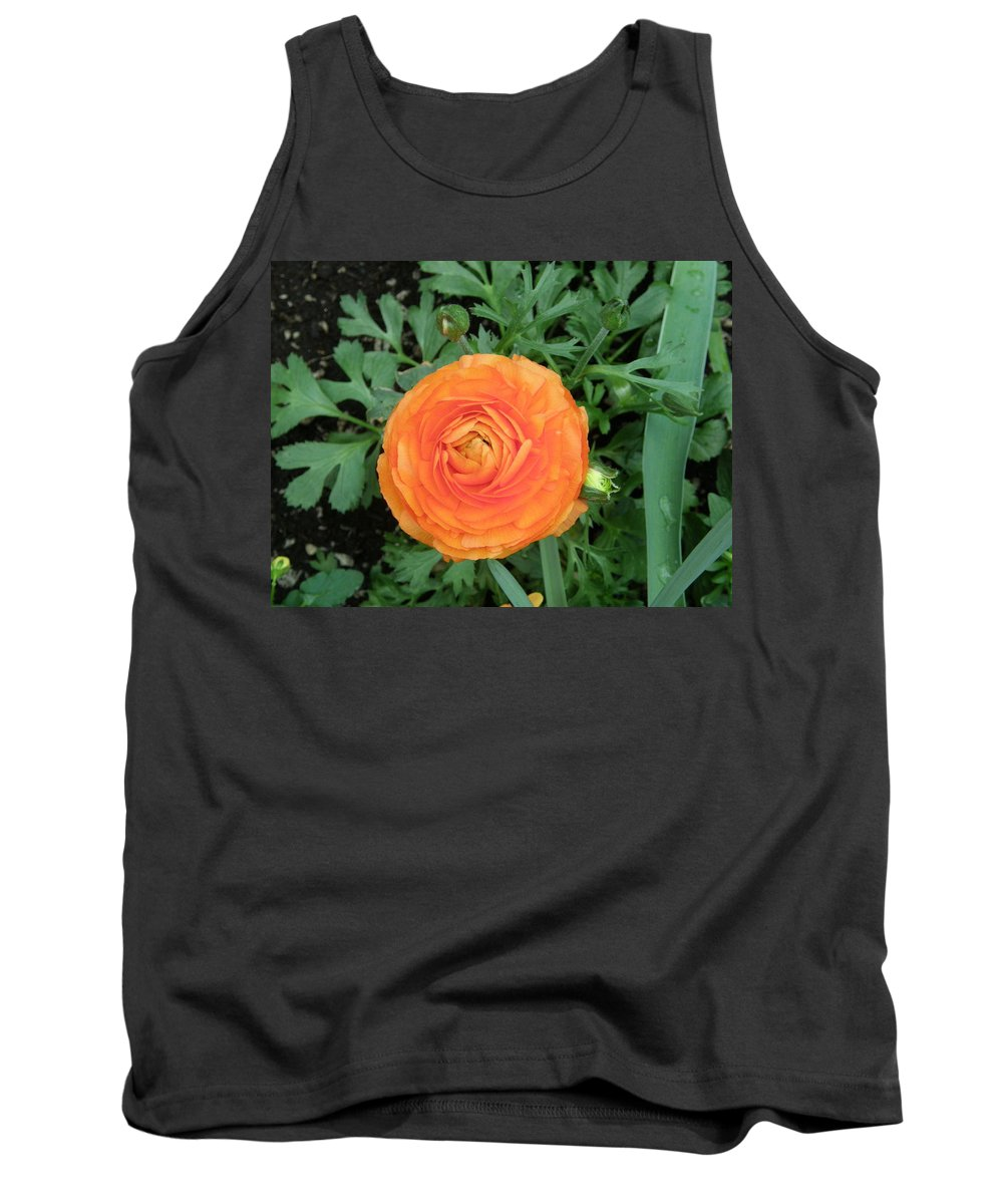 Floral Tank Top featuring the photograph Orange Flower by Alice Markham