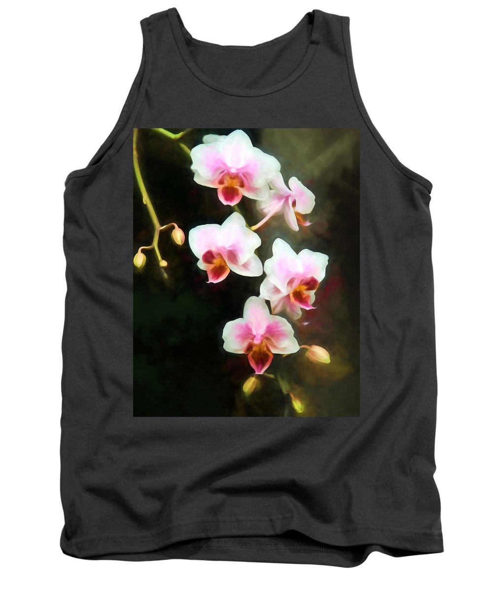 Orchids Tank Top featuring the photograph Orchids Abound by John Freidenberg