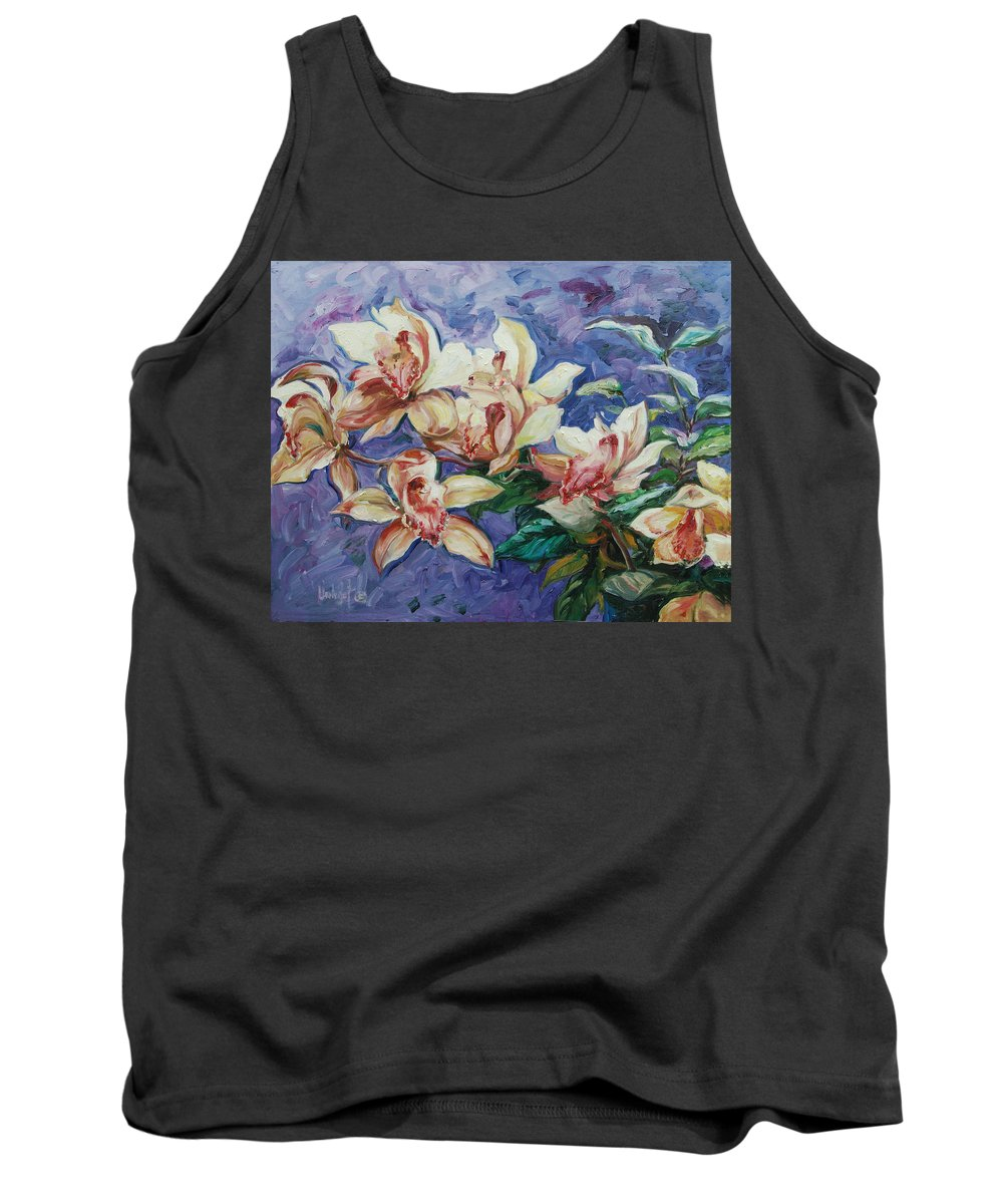 Flowers Tank Top featuring the painting Orchids by Rick Nederlof