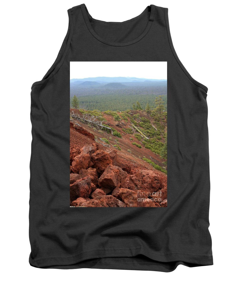 Oregon Tank Top featuring the photograph Oregon Landscape - Red Rocks At Lava Butte by Carol Groenen