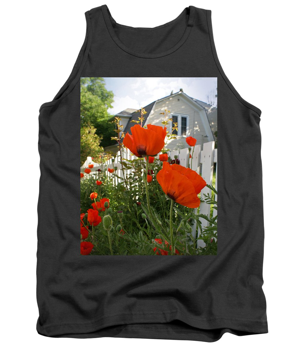 Poppies Tank Top featuring the photograph Oriental Poppies by Heather Coen