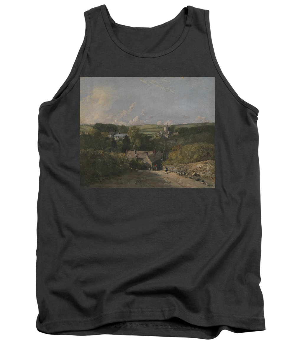 English Romantic Painters Tank Top featuring the painting Osmington Village by John Constable