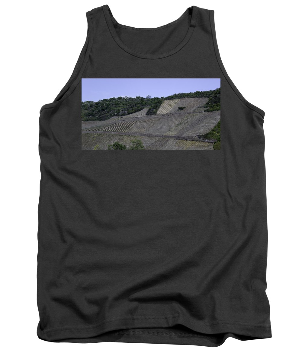 Teresa A Mucha Tank Top featuring the photograph Osterspai Vineyards by Teresa Mucha