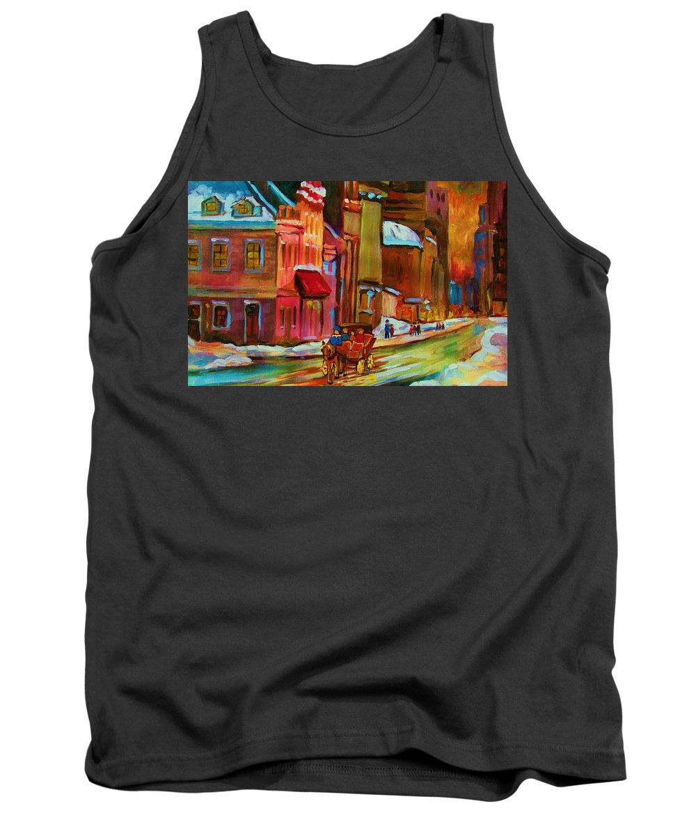 Montreal Tank Top featuring the painting Our Perfect Day by Carole Spandau