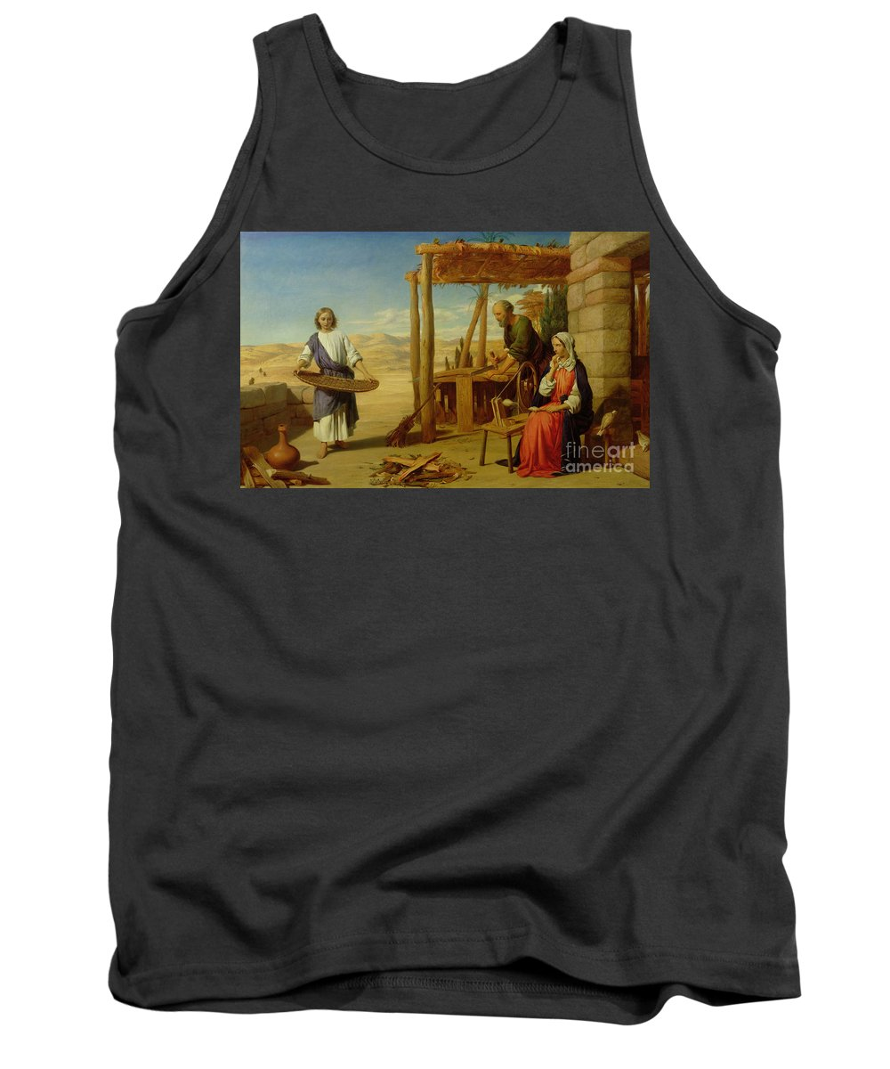 Pre-raphaelite Tank Top featuring the painting Our Saviour Subject To His Parents At Nazareth by John Rogers Herbert
