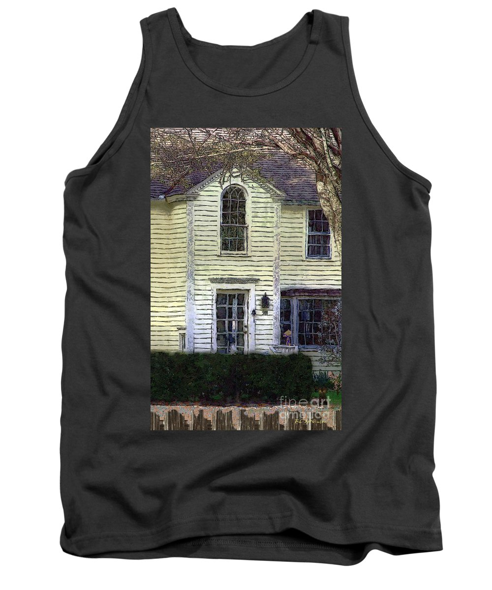 House Tank Top featuring the painting Our Town's Witch House by RC DeWinter