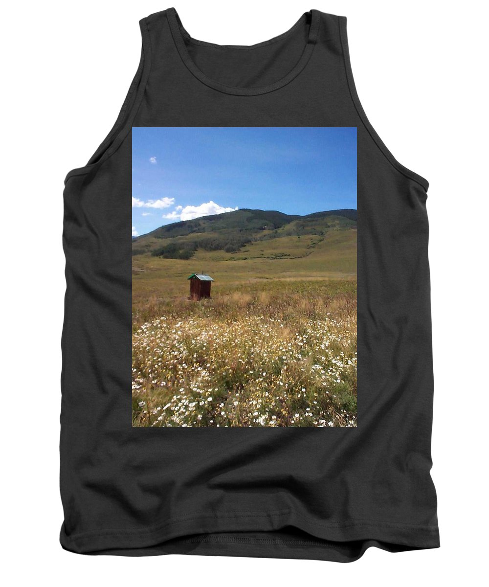 Charity Tank Top featuring the photograph Out House by Mary-Lee Sanders