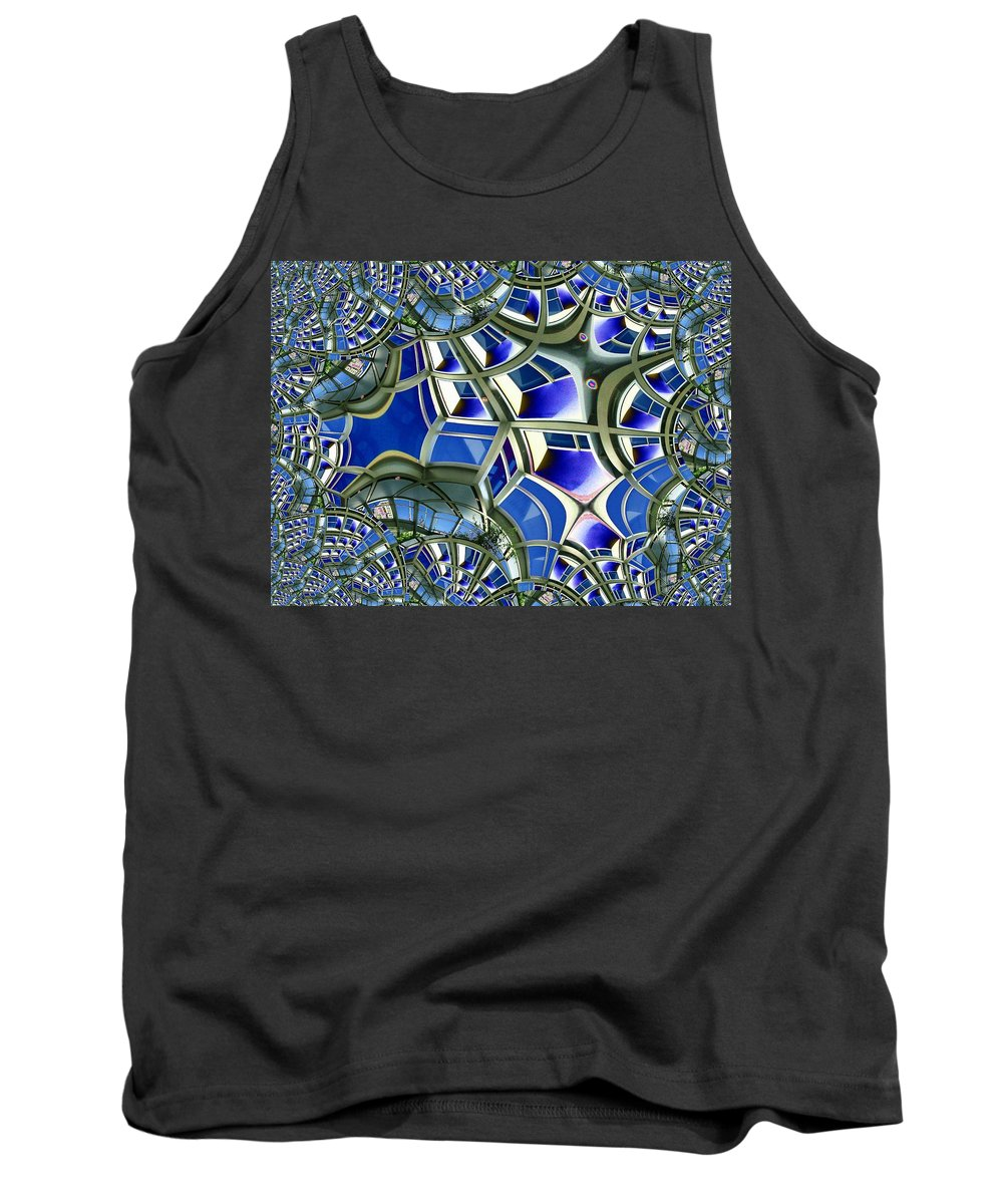 Windows Tank Top featuring the photograph Out The Looking Glass by Tim Allen