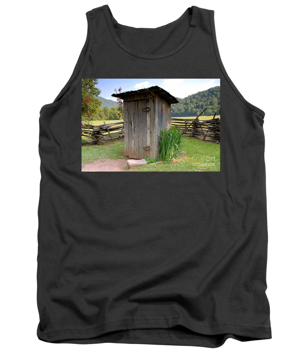Outhouse Tank Top featuring the photograph Outhouse by David Lee Thompson