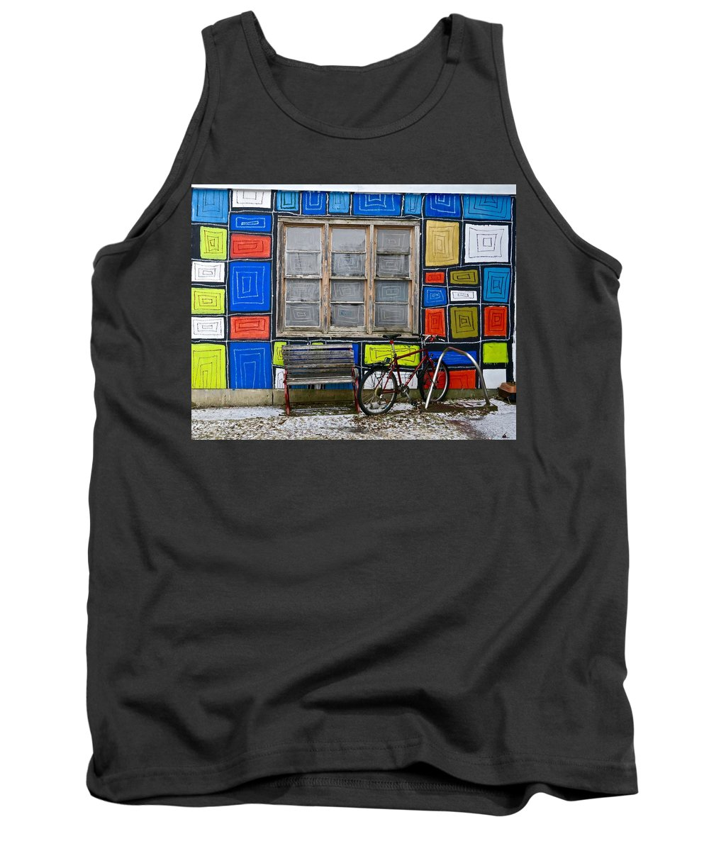 Color Tank Top featuring the photograph Outside Boxes by Mike Reilly