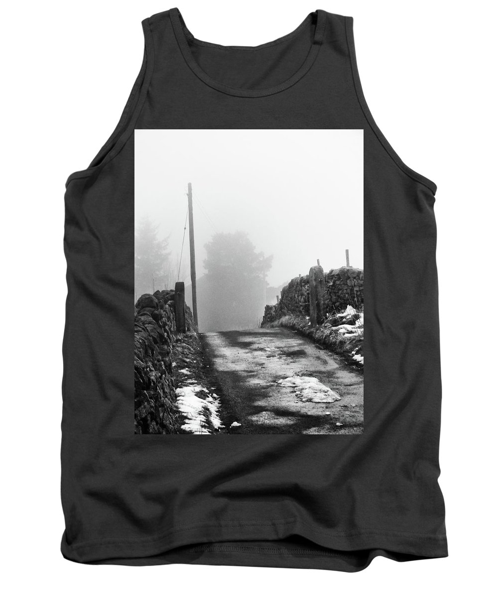Mist Tank Top featuring the photograph Over The Hill by Philip Openshaw