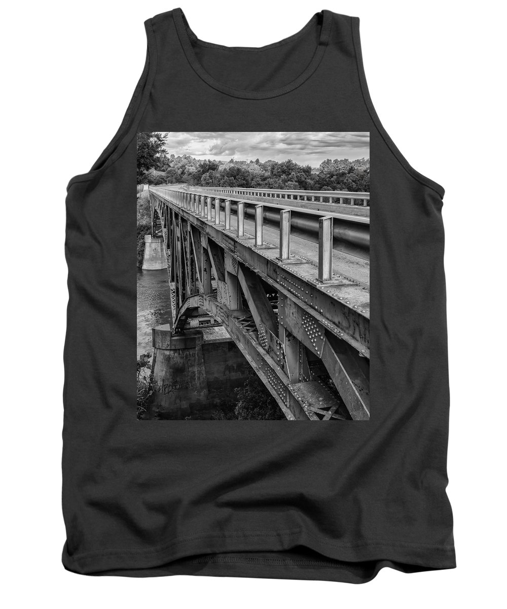 Black Tank Top featuring the photograph Over Troubled Water by Jayme Spoolstra