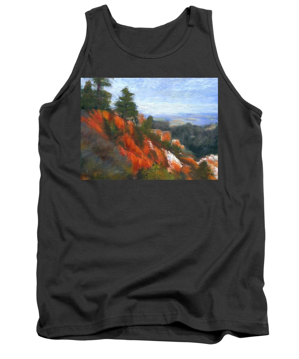 Southwest Tank Top featuring the painting Overlook by Gail Kirtz