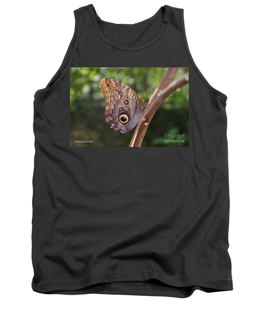 Butterfly Tank Top featuring the photograph Owls Don't Always Have Feathers by Shelley Jones