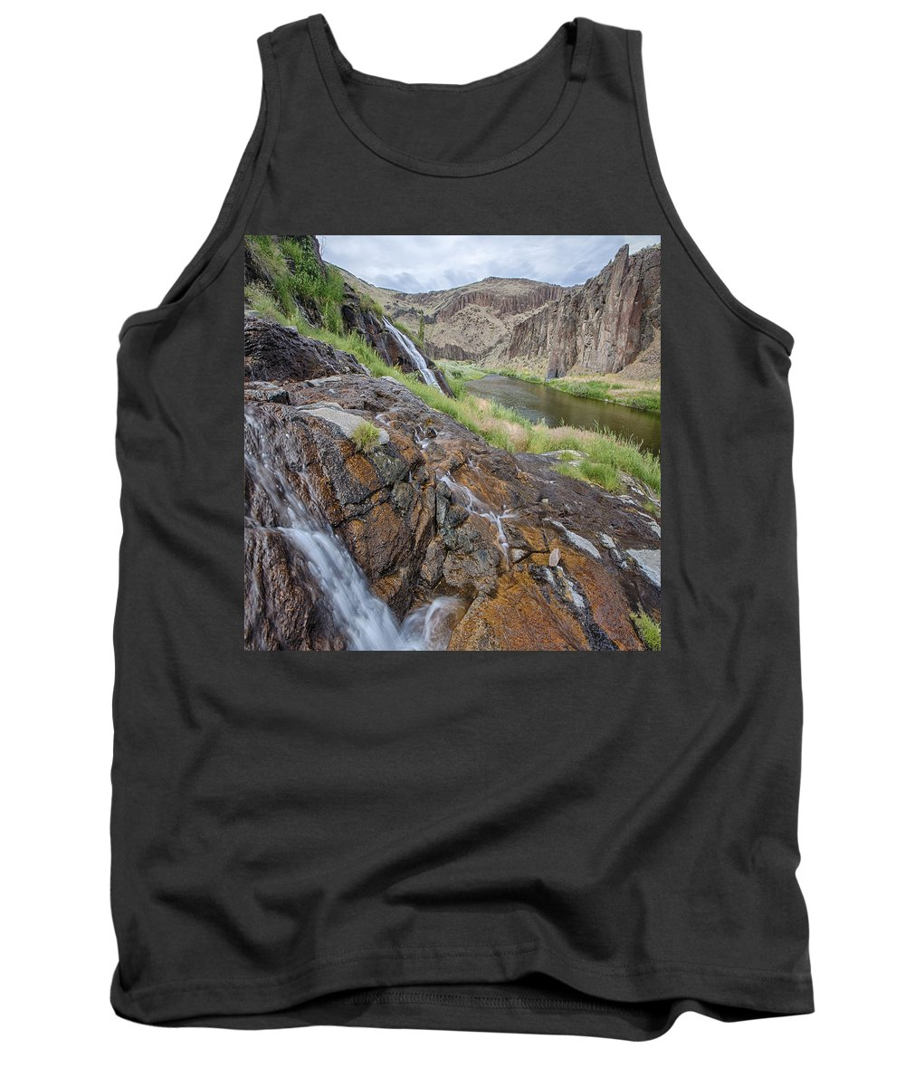 Columbia Gorge Tank Top featuring the photograph Owyhee River 1 by Ingrid Smith-Johnsen