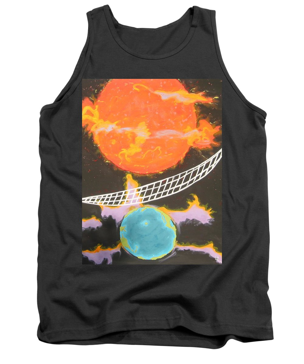 Environment Tank Top featuring the painting Ozone Net by V Boge