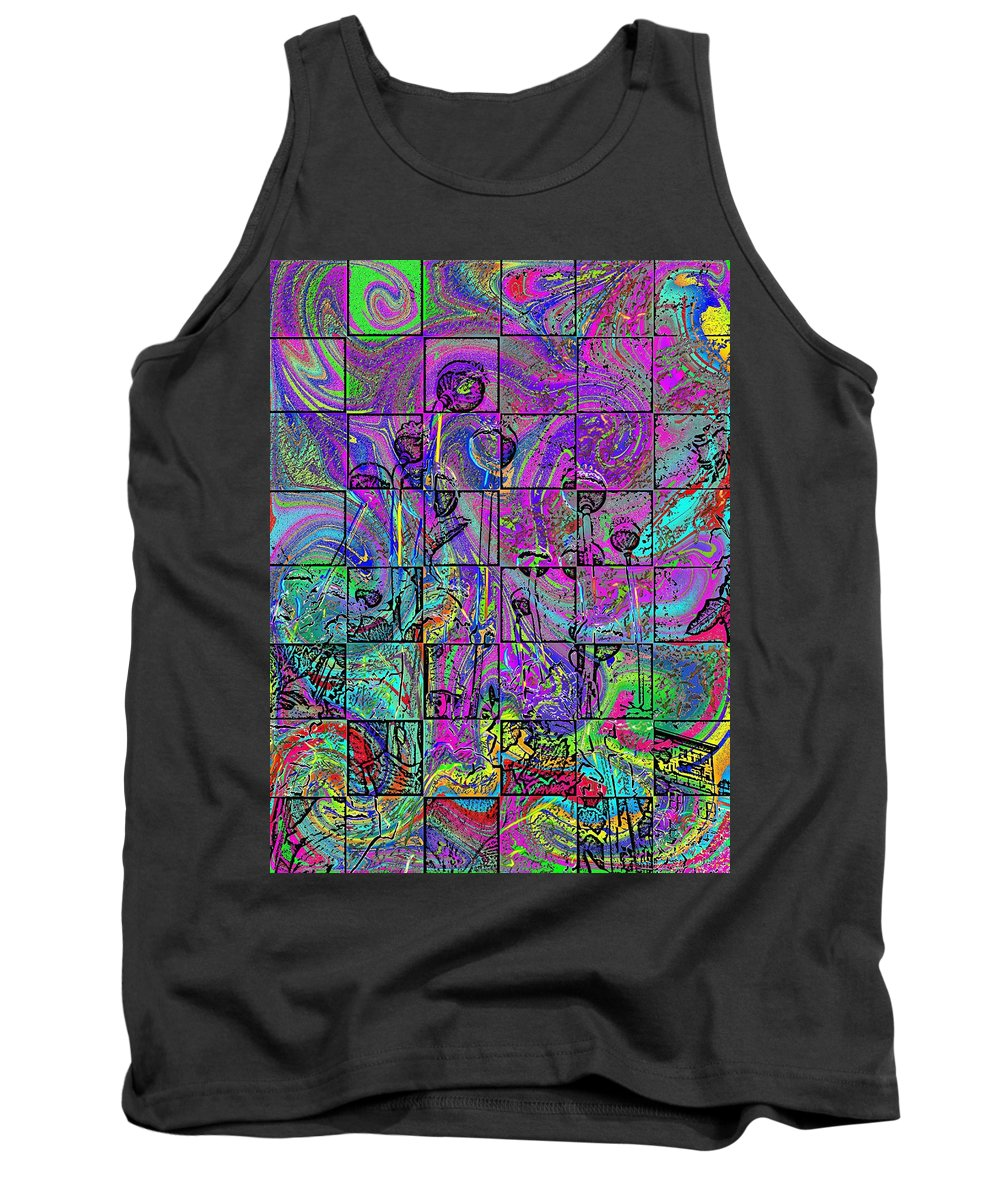Poppies Tank Top featuring the digital art P Patch Poppies 2 by Tim Allen