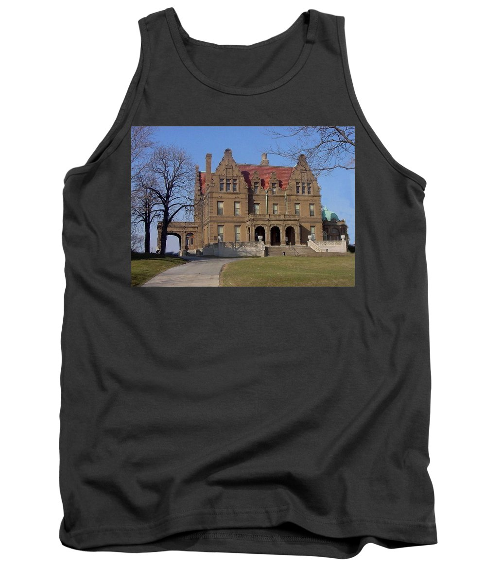 Pabst Mansion Tank Top featuring the photograph Pabst Mansion Photo by Anita Burgermeister