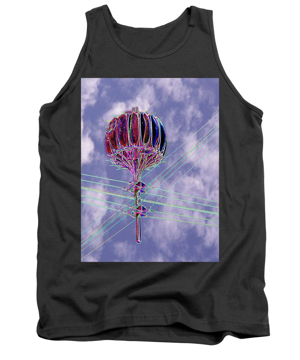 Seattle Tank Top featuring the photograph Pacific Science Center Lamp 2 by Tim Allen
