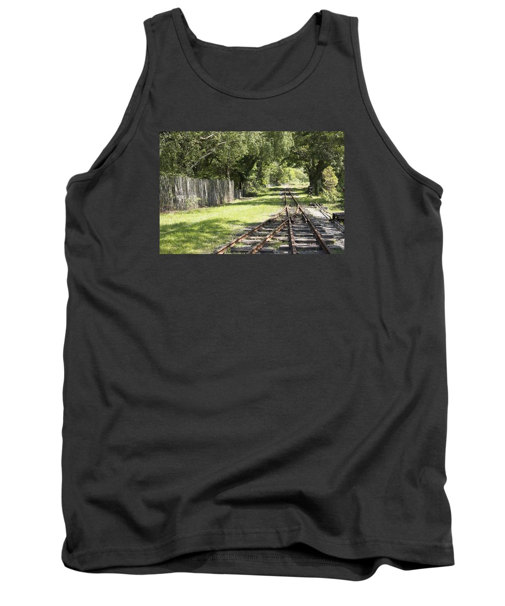 Railways Tank Top featuring the photograph Padarn Lake Railway by Christopher Rowlands