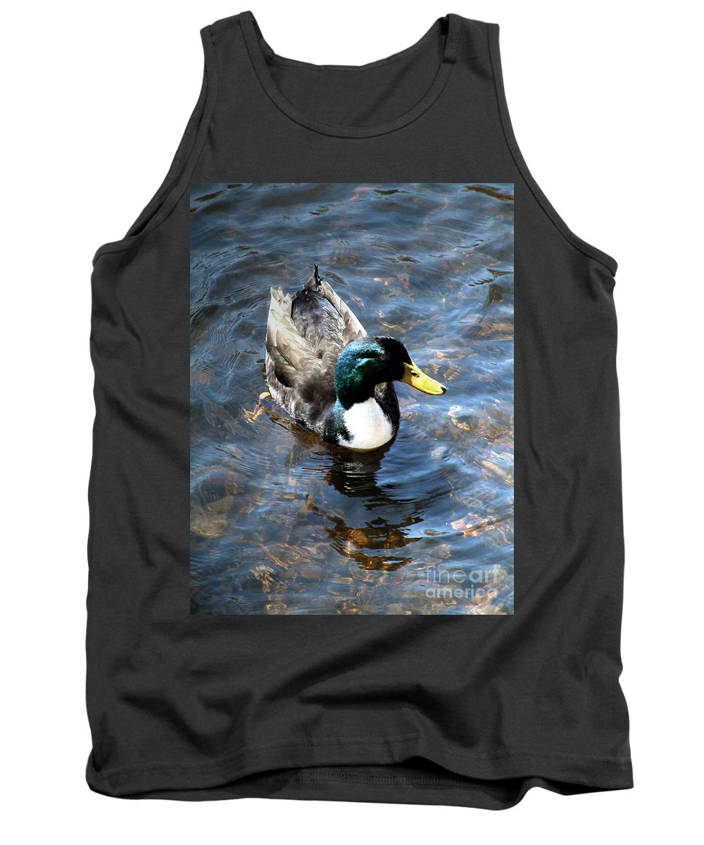 Drake Tank Top featuring the photograph Paddling Peacefully by RC DeWinter