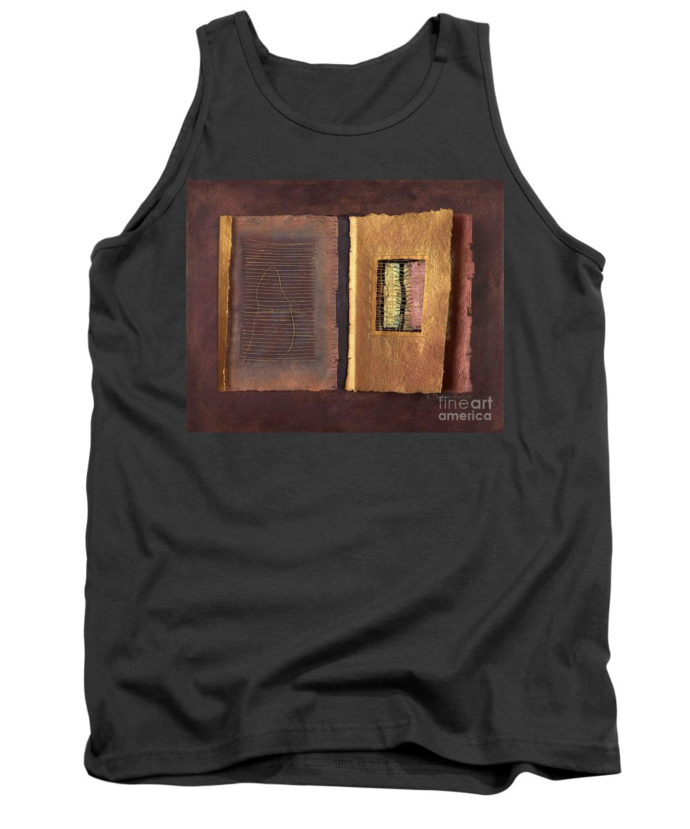 Pageformat Tank Top featuring the painting Page Format No 2 Transitional Series by Kerryn Madsen-Pietsch