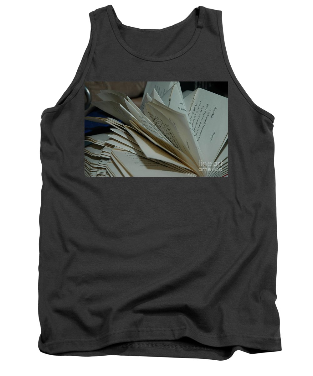 Book Tank Top featuring the photograph Pages by Theo Tucker