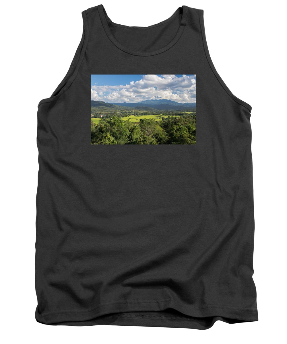 Mountain Tank Top featuring the photograph Pai Landscape View, Thailand by Nomadic Ninja Negativs