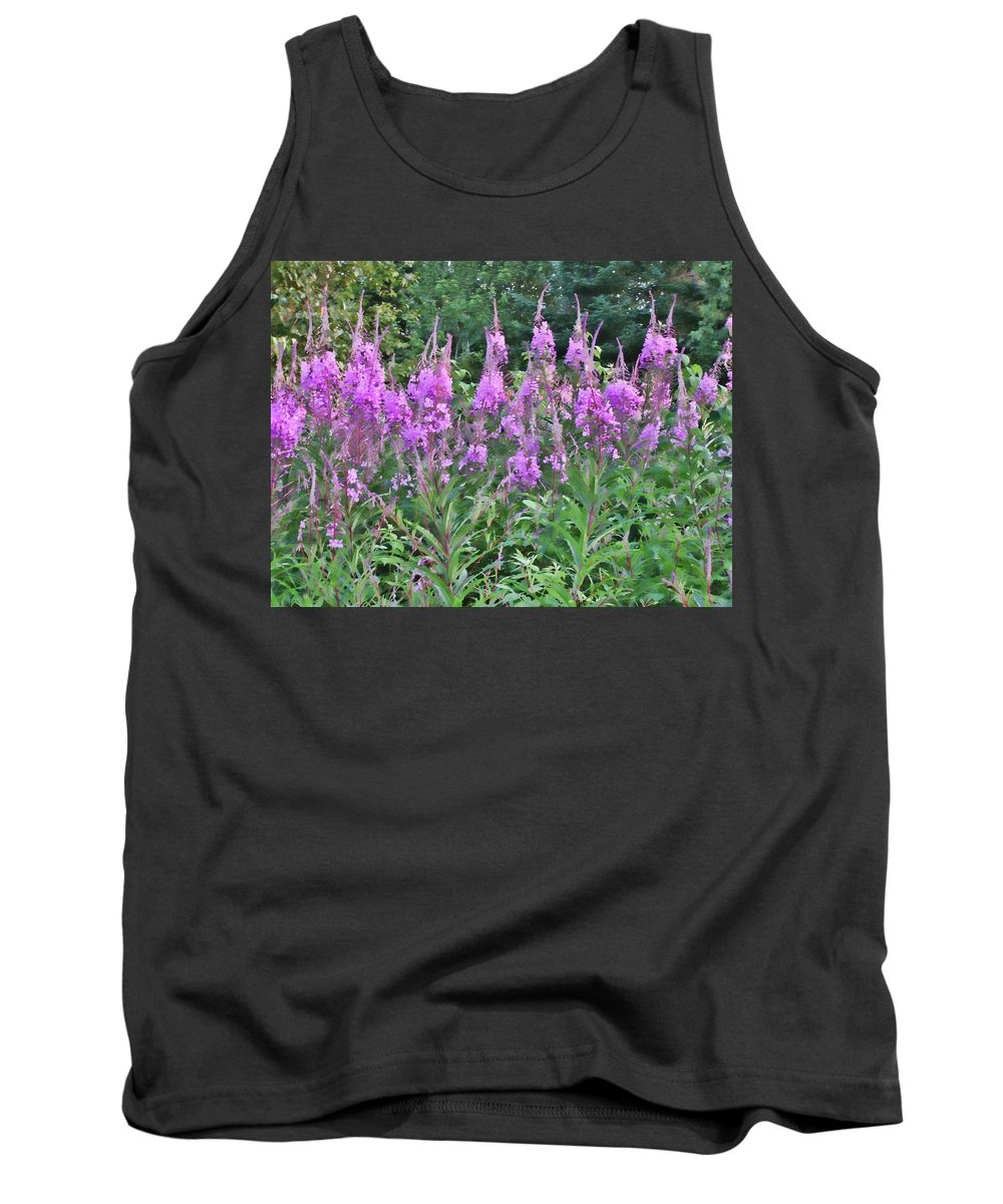 Fireweed Tank Top featuring the photograph Painted Fireweed by Shari Jardina