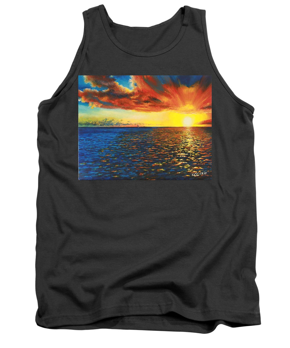 Chris Cox Tank Top featuring the painting Painted Horizon by Christopher Cox