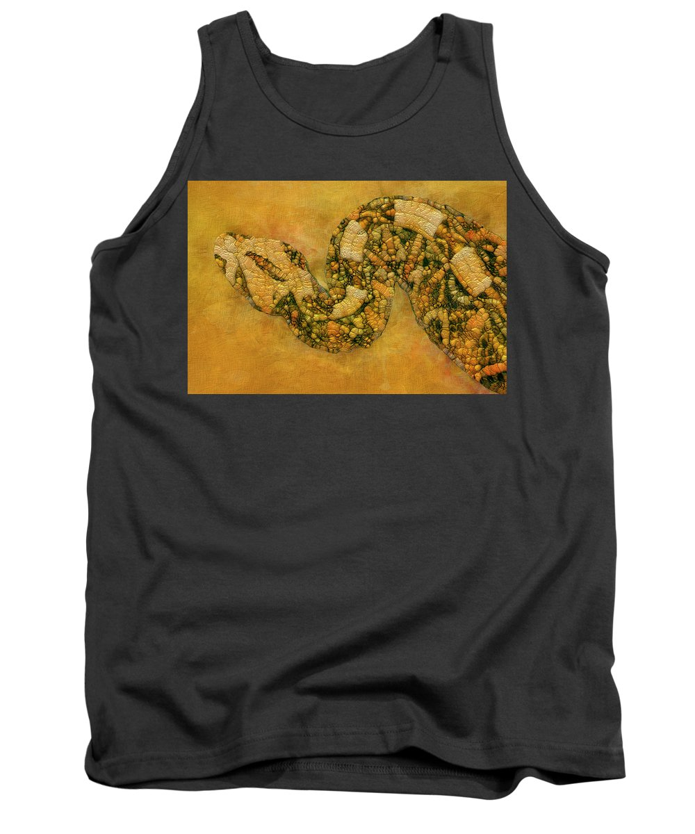 Snake Tank Top featuring the painting Painted Snake by Jack Zulli