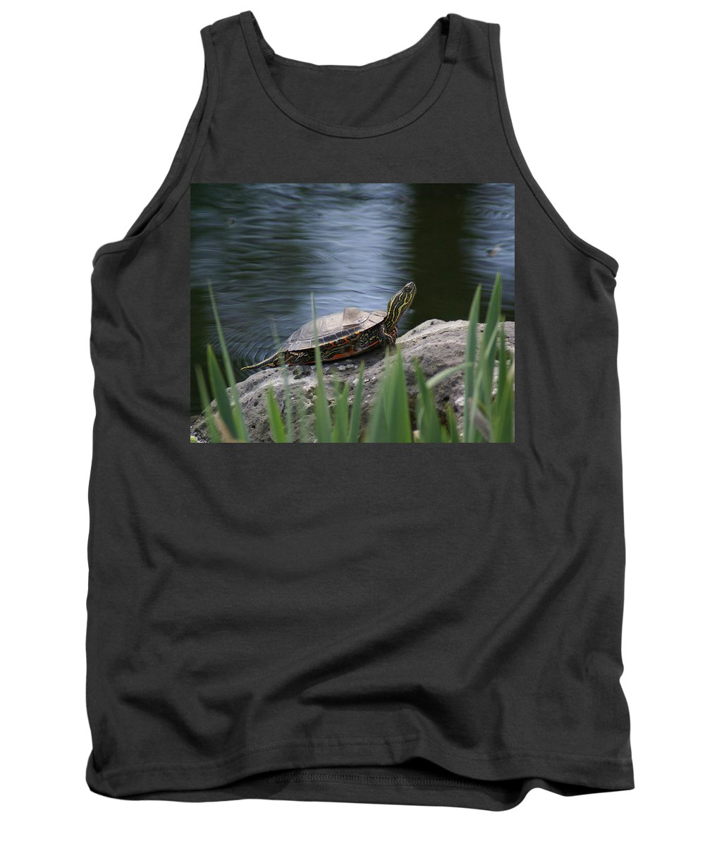 Spokane Tank Top featuring the photograph Painted Turtle by Ben Upham III