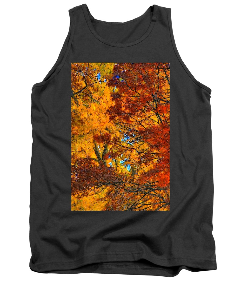 Leaves Tank Top featuring the photograph Painterly by Lyle Hatch