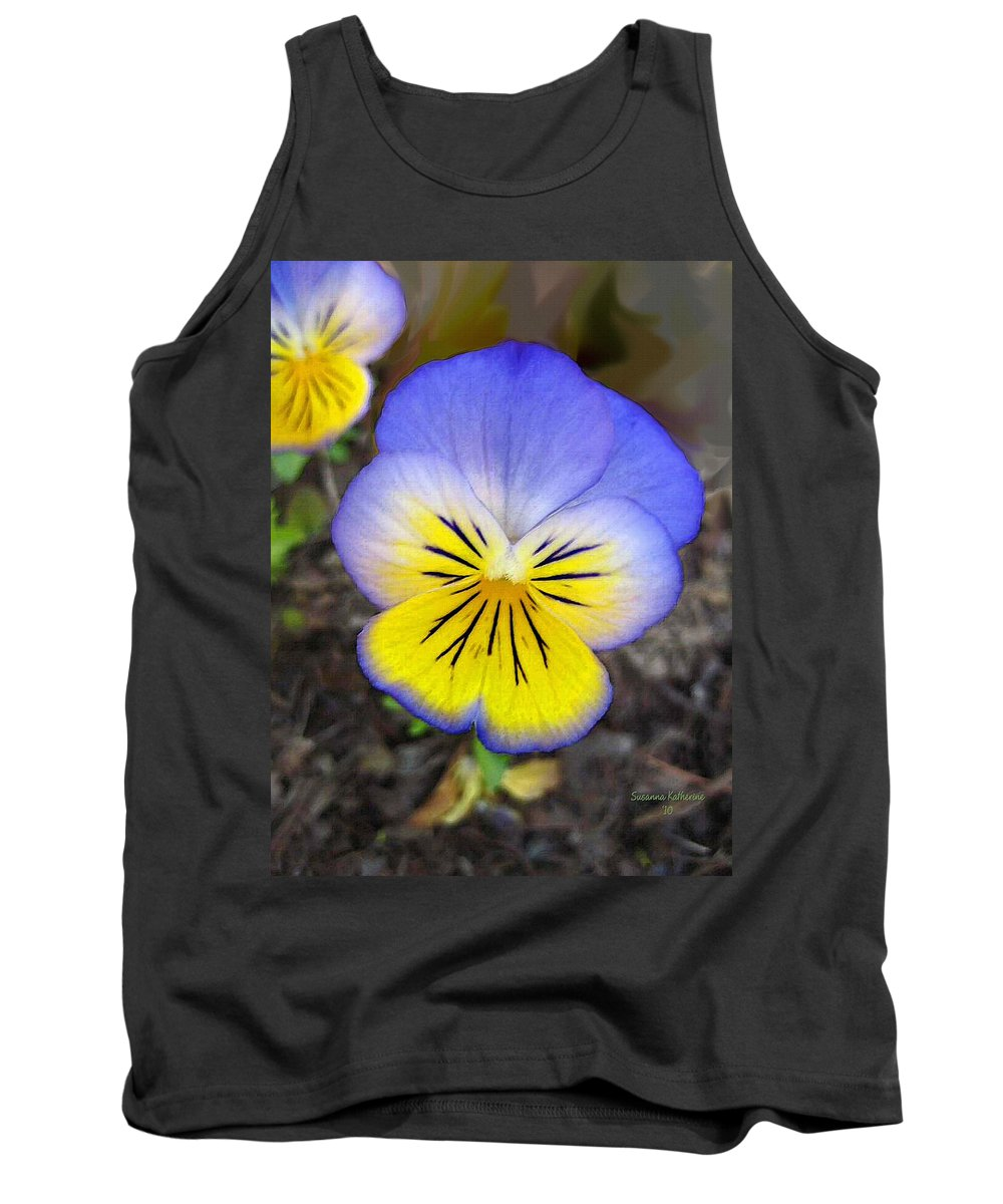 Flower Tank Top featuring the painting Painting Of Pansey Flower by Susanna Katherine