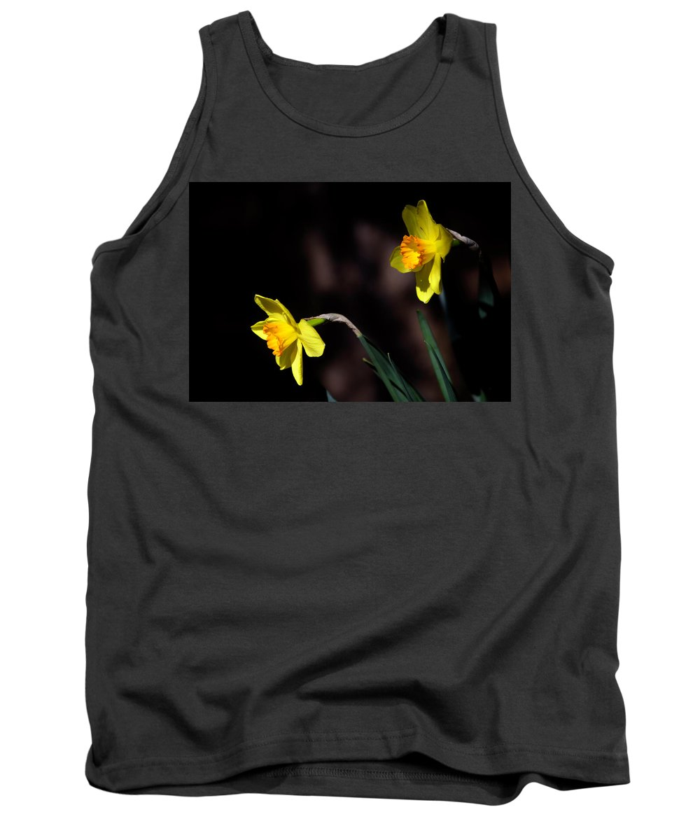 Flower Tank Top featuring the photograph Pair A Daffs by Anthony Zeljeznjak