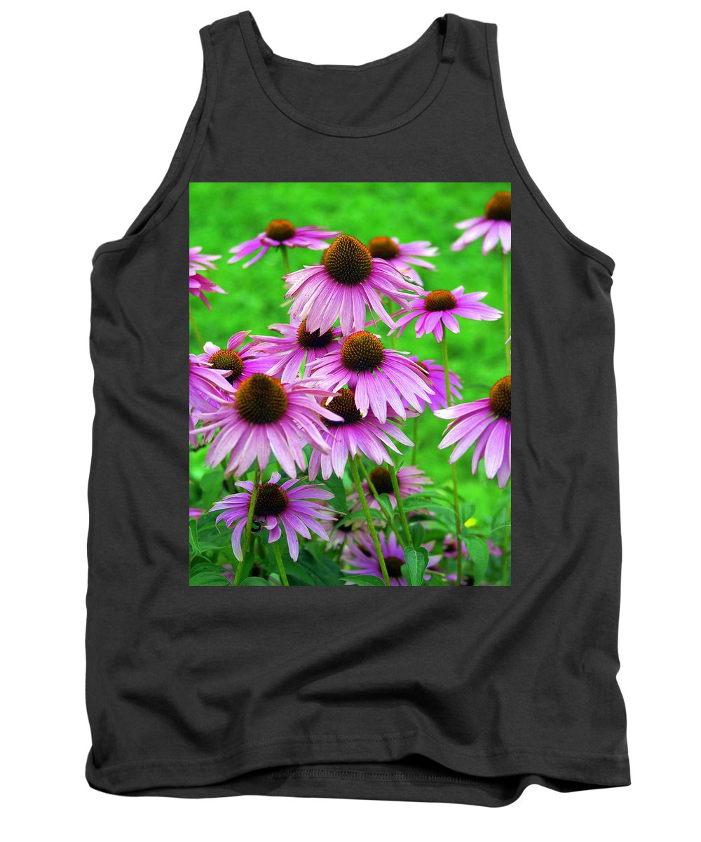 Flowers Tank Top featuring the photograph Pale Purple Coneflowers by Marty Koch