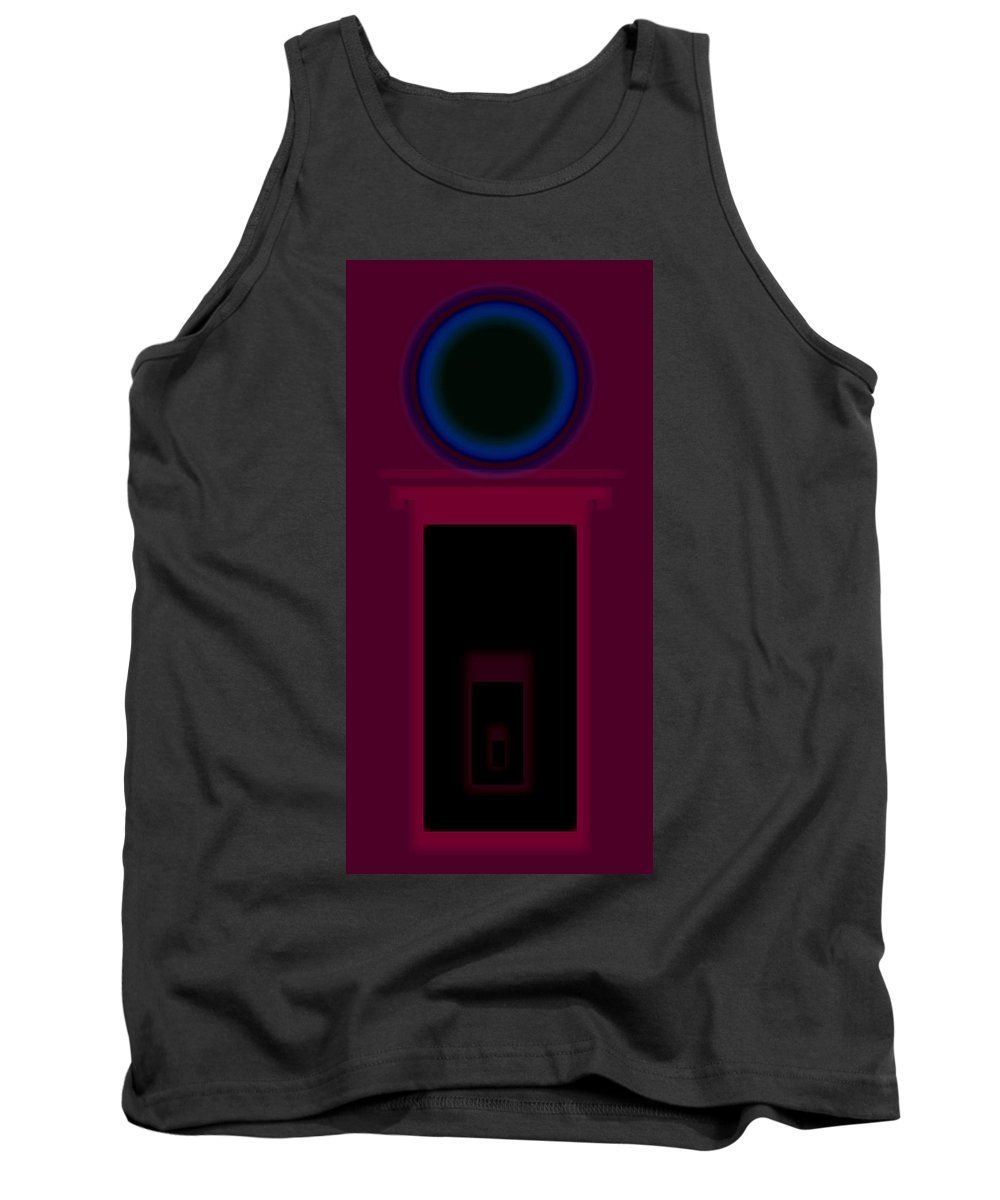 Palladian Tank Top featuring the painting Palladian Magenta by Charles Stuart