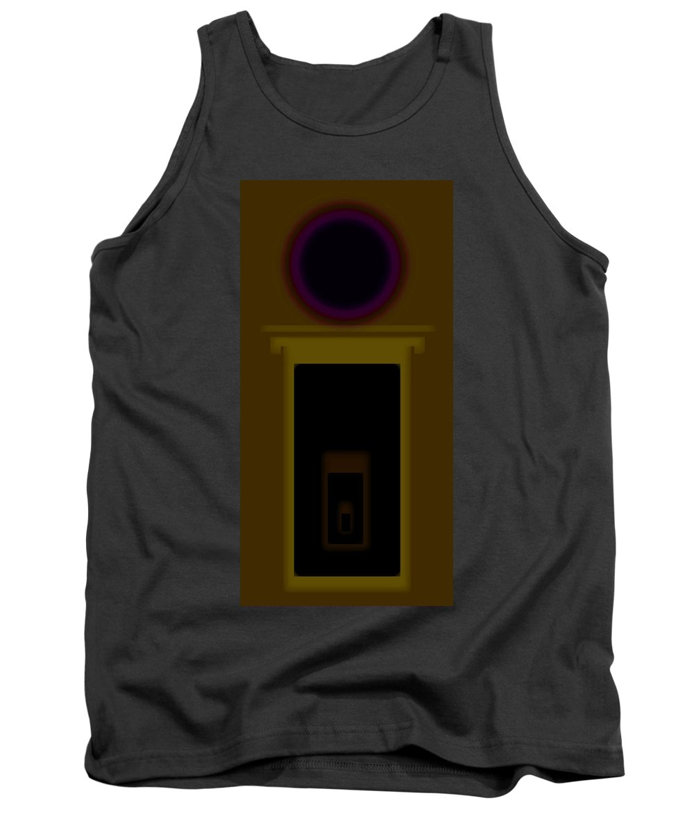 Palladian Tank Top featuring the painting Palladian Ochre by Charles Stuart