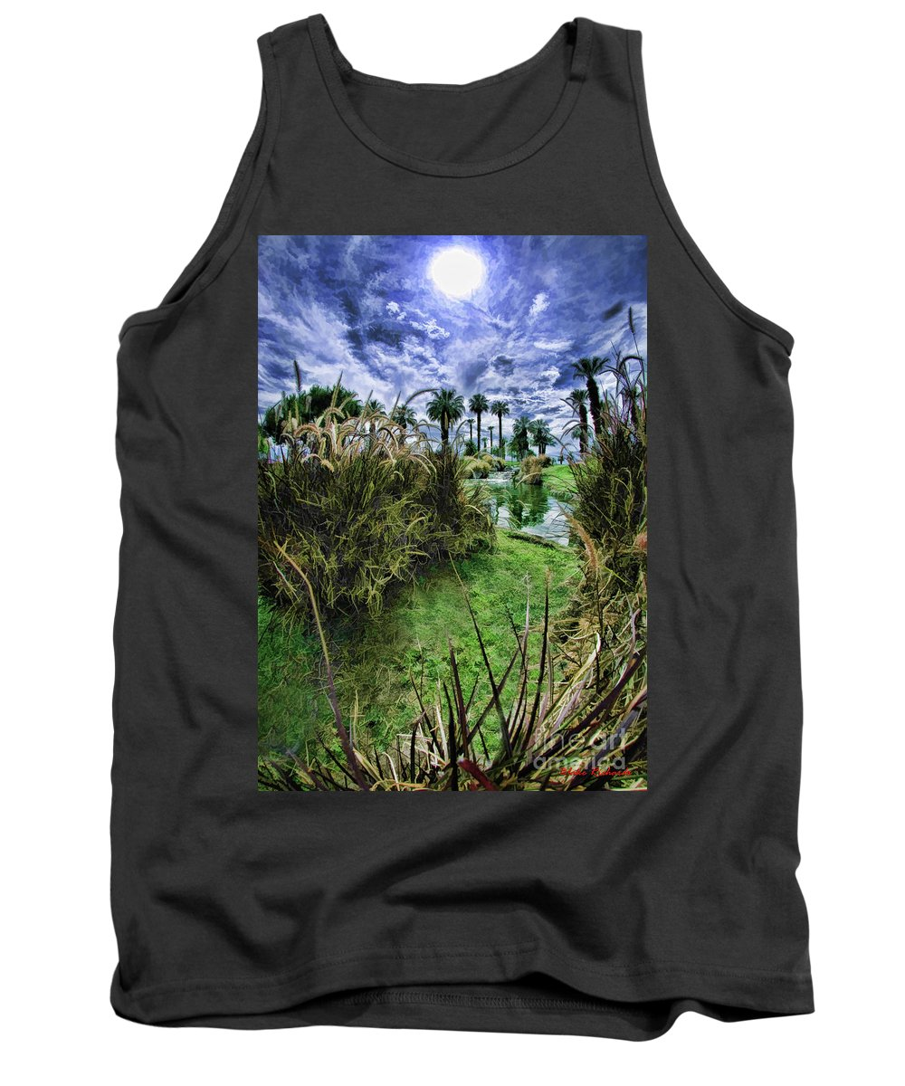 Art Photographyfine Artfine Art Photographyart Printsimage Artart's Photographyphotography Showphotography Artnature Artphoto Galleriesphotographic Artprofessional Photographer Tank Top featuring the photograph Palm Desert Sky by Blake Richards