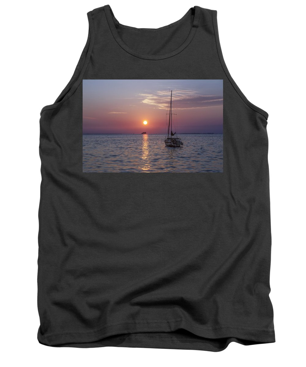 Palm Tank Top featuring the photograph Palm Harbor Florida At Sunset by Bill Cannon